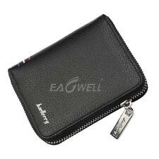 Men's Leather Wallet Purse Cards Holder Zipper Bifold Multi-Pocket Purse Clutch