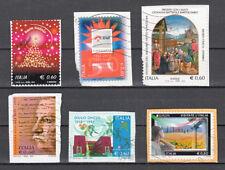 ITALIA 2012 - 6 francobolli - USATI come fa foto
