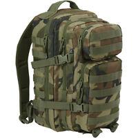 Brandit Us Army Urban Cooper Lasercut Rucksack Large 40L Webbing Pack Dark Camo