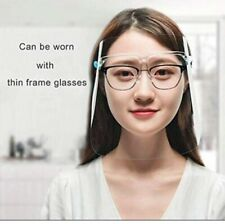Clear Full Cover Face Shield Glasses Safety Protector Reusable Anti-fog