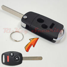 Flip Key Modified Case Shell For Honda Remote Key 3 Buttons Odyssey Fit CR-V etc