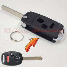 New Flip Key Modified Case Shell For Honda Remote Key 3 Buttons Civic Fit Odysse