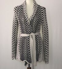 INC International Concepts Women's Cardigan Sweater Black Beige Size Med