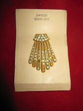 Vintage Gold Toned Rhinestone Dress Clip