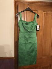 BNWT Ladies Jax Green Satin Style Bodycon Dress Size 8