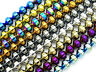 Metallic Colors Hematite Gemstone Lantern Loose Spacer Beads 16'' 4mm 6mm 8mm