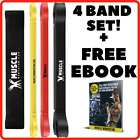 PACK OF 4! Strong Resistance Loop Heavy Duty Exercise Lifting Fitness Gym Latex