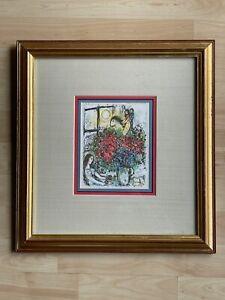 Marc Chagall Signed La Chevauchee The Ride Lithograph Print w/ COA