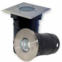 Bodeneinbaustrahler Bodenspot IP67 Außenlampe Bodenstrahler GU10 eckig rund