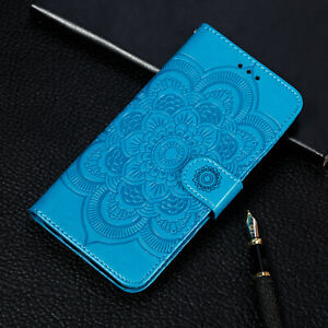 For Xiaomi Redmi Note 7 6 Sunflower Flip Stand Card Wallet Leather Case Cover