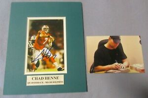 Chad Henne Miami Dolphins Kansas City Chiefs Autographed Signed Matted Photo