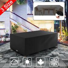 210D Waterproof Outdoor Patio Furniture PU Cover Garden Rattan Table Protector