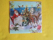5 Servietten Maus Weihnachten Süßigkeiten Serviettentechnik 1//4 Christmas Mice g
