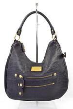 LINEA PELLE Purple Leather Shoulder Bag Hobo Handbag Purse Tote Satchel NEW
