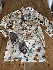 NEW!! Stunning & OTHER STORIES Seashell Twist Knot Cream & Gold DRESS, Size 14