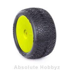 AKA Racing 1:10 Buggy Evo Chain Link Rear (Soft) Evo Wheel Pre-Mounted Yellow (2