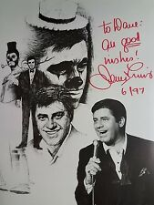 Signed Jerry Lewis 8X10 B&W RP Photo From Original Photo w/coa Free Shipping