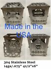 Stainless Steel Portable Camping Twig Stove (FIRE BOX) Made Is USA photo