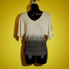 New York & Company 7th Ave Sweater Shirt Top, XS, Sparkle,NWOT Beige Gold Black