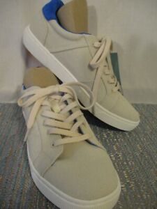 Toms Mens Size 7.5 M Birch Canvas Leandro Lace Up Casual Shoes NEW