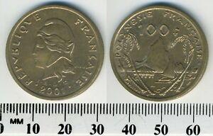 French Polynesia 2001 - 100 Francs Nickel-Bronze Coin - Moorea Harbor