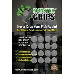 Monster Grips Silicone Guitar Plectrum Pick Grip Aid 16-Pack