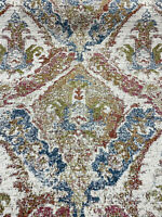 Swavelle Chenille Latham Multi Damask Upholstery Fabric By The Yard