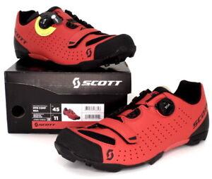 Scott MTB Comp Boa Mountain Bike Shoes Red/Black Men's Size 11 US / 45 EU