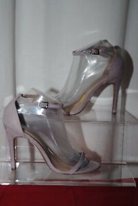 New Look Ladies Lilac Strappy Barely There High Heel Shoes Uk Size 5