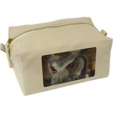 'Owl' Canvas Wash Bag / Makeup Case (CS00003817)