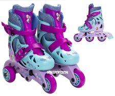 Kids Disney FROZEN Anna+Elsa Convertible ROLLER SKATES Inline Blades Age 3-6 Set