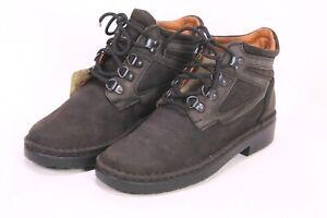 C116 Josef Seibel Damen Outdoor Schnürstiefel Boots Leder schwarz grau Gr. 38