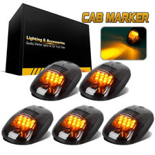 5 Smoked Black 12 LED Cab Roof Top Marker Running Clearance Light for Dodge Ram#