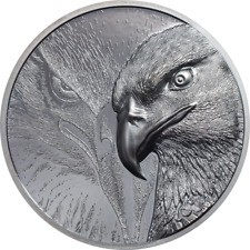Majestic Eagle Silver 2 oz Black Proof smartminting© Ultra High Relief
