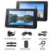 """10"""" Dual Screen Dual Portable DVD Media Player, Region Free, Last Memory, USB SD"""