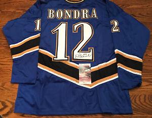 Peter Bondra Washington Capitals Signed Blue Custom Jersey JSA Witness