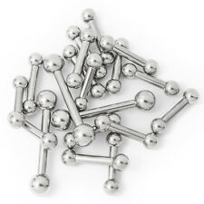 20 Pcs. Tongue Nipple Piercing Barbells 8 Gauge Mixed Lengths