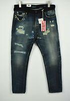 UVP 159 Scotch & Soda Dean Herren W28/L32 Distressed Locker Konisch Jeans 7529