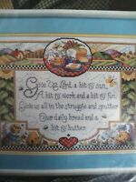 Bucilla GIVE US LORD I Counted Cross Stitch Kit Sandy Orton sealed