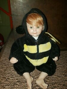 Cricket Porcelain baby doll The Artworks by RuBert 1993 Bee suit