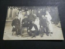 CPA 13, INFIRMIERES CROIX ROUGE, MILITAIRES BLESSES, MILITARIA 1915