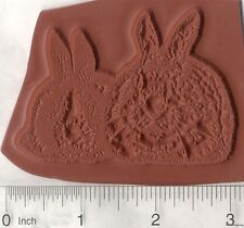 House Rabbit Pair Rubber Stamp, Dutch Bunny  Ears K6110 Unmounted