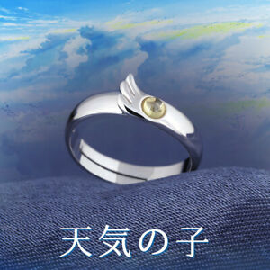Japanese Anime Weathering With You Amano Hina S925 Silver Finger Ring Jewelry