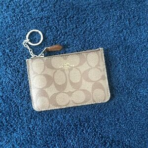 Coach keychain wallet purse coin change and ID/credit card holder