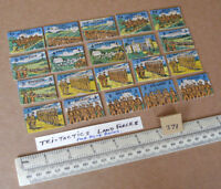 """20 Vintage Gibson War Game Spare Parts """"Tri-Tactics"""". 1940s/50s Period (371)"""