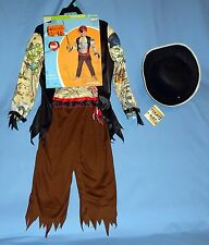 Pirate Costume;3T-4T;Inked Power Suit;bandanna;eye patch;Tricorn felt hat;Lot-4