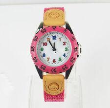 Girls child Learn The Time Cerise Pink Analogue Quartz Wristwatch