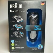Braun MG5050 Multigroomer Beard Trimmer Razor and Trimmer Black water resistant