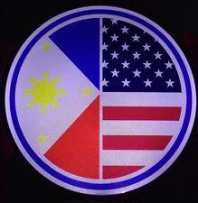 Philippine American Flag Light Up Decal Backlit LED Motion Sensing Decal