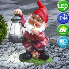 Globo enanito de Jardín con Led solar y linterna